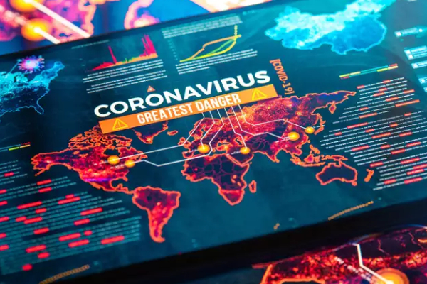 Coronavirus Greatest Danger - Image Representing The Live Updates Of A News Channel.