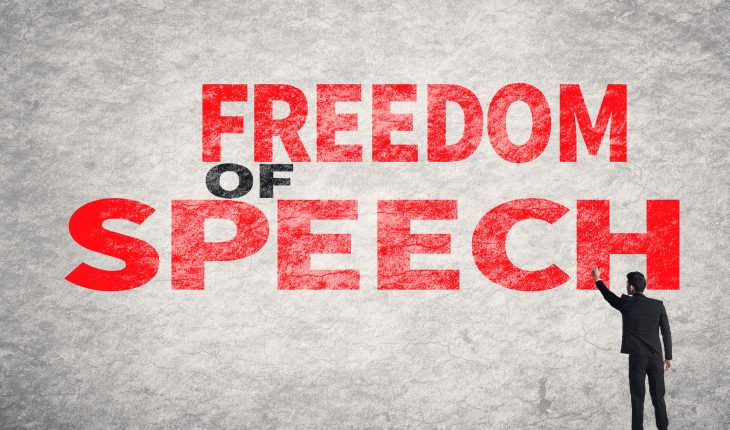 A Man Speaking - That Representing The Freedom Of Speech Concept.
