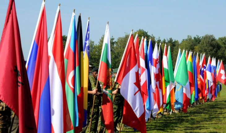 Various Flags Of Different Countries.