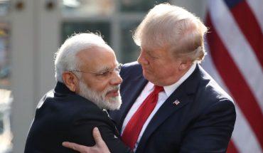 Donald Trump & Narendra Modi Greeting Each Other.